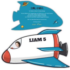 einladung kindergeburtstag astronaut Space Shuttle