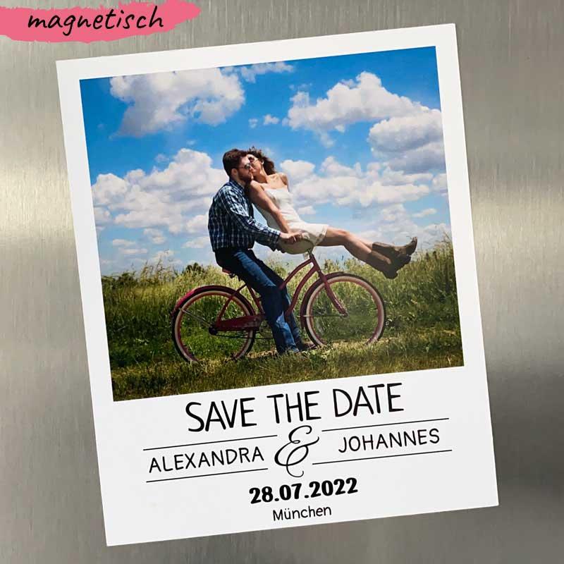 Save the Date Karte Magnet (als Polaroid Bild)