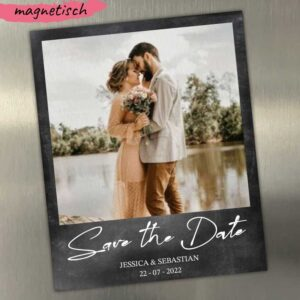 Save-the-Date-Magnetkarte-als-Polaroid-schwarz